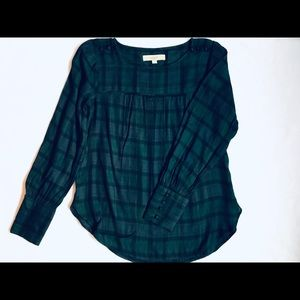 Loft Plaid Blouse